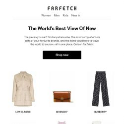 [Farfetch] The best view of new