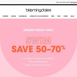 [Bloomingdales] Today only! Save 50-70% on swim must-haves