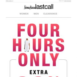 [Last Call] 4 HOURS ONLY: Extra 60% off dresses!