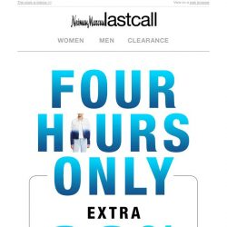 [Last Call] 4 HOURS ONLY: Extra 60% off tops!